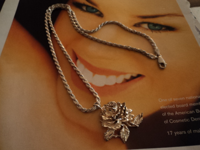 Vintage Sterling Silver Chain Necklace with Free Pendant Bonanza