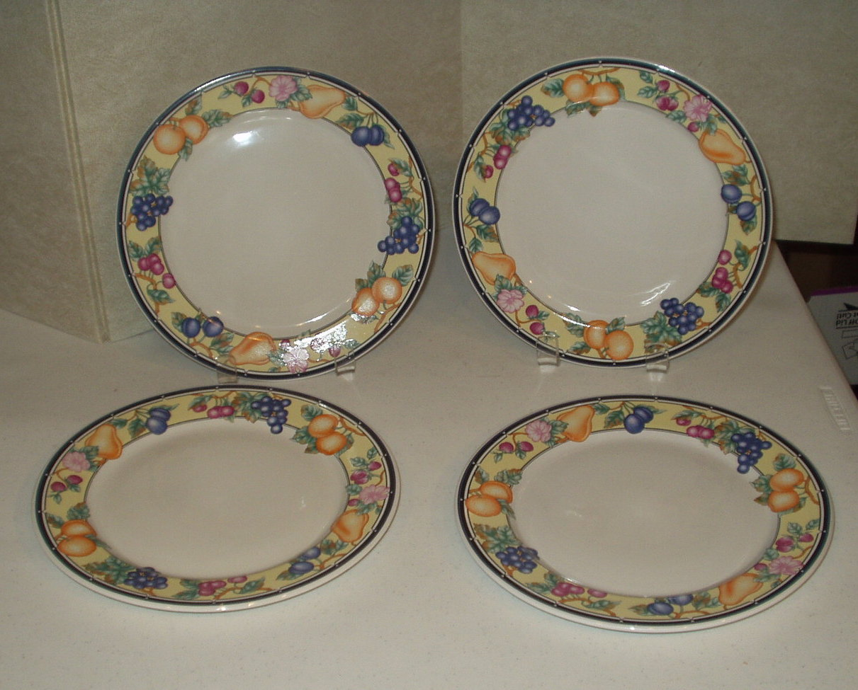 Oneida Orchard Stoneware Dinner Plates Select Collection