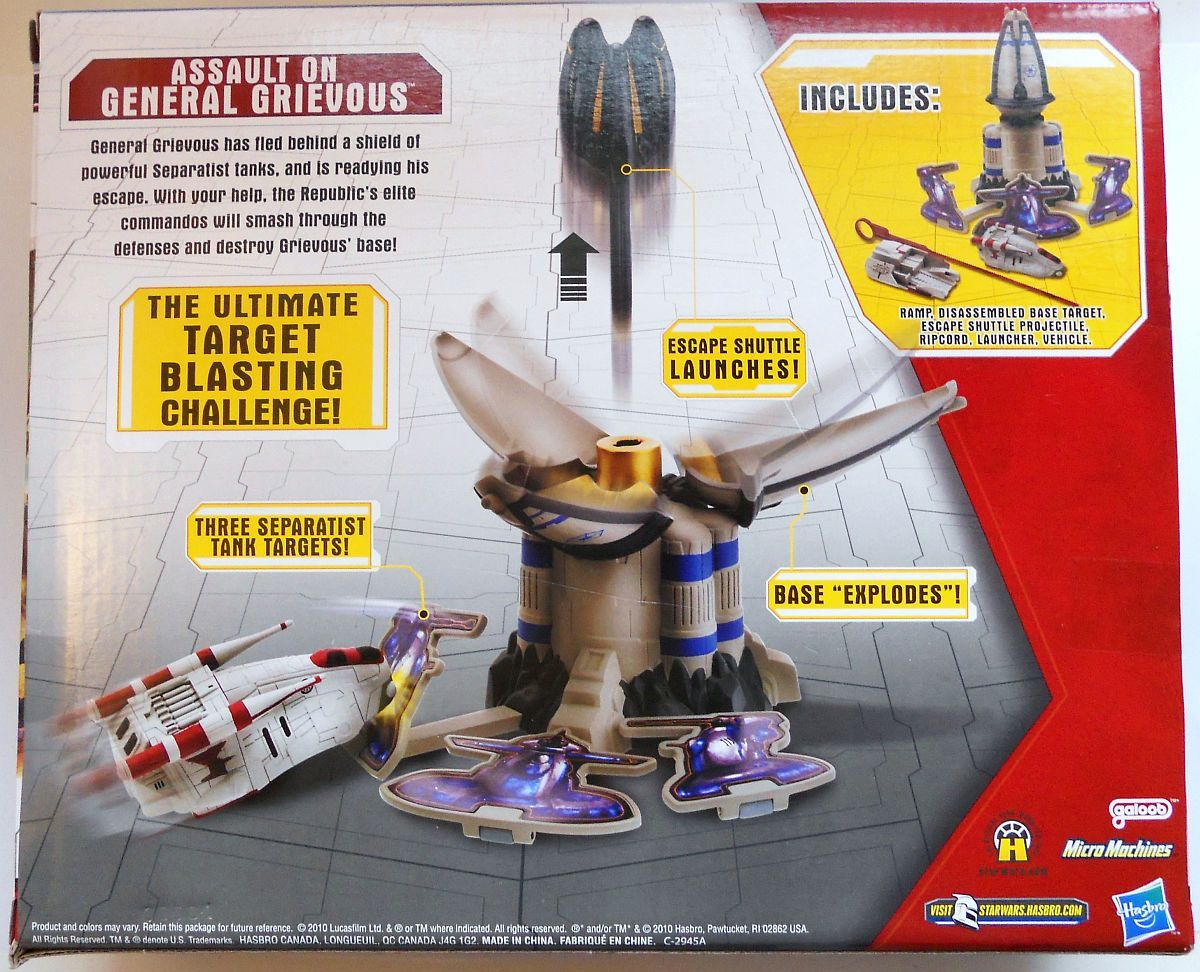 Image 1 of Star Wars Assault On General Grievous Playset Micro Machines Speed Stars