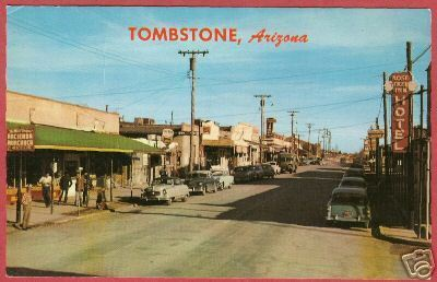 TOMBSTONE ARIZONA Allen St Rose Tree Inn Cars Petley PC