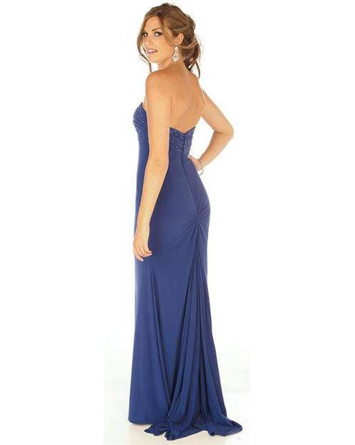 Image 1 of Sophisticated Sexy Strapless Beaded Royal Blue Evening Gown/Prom Dress Joli 9560