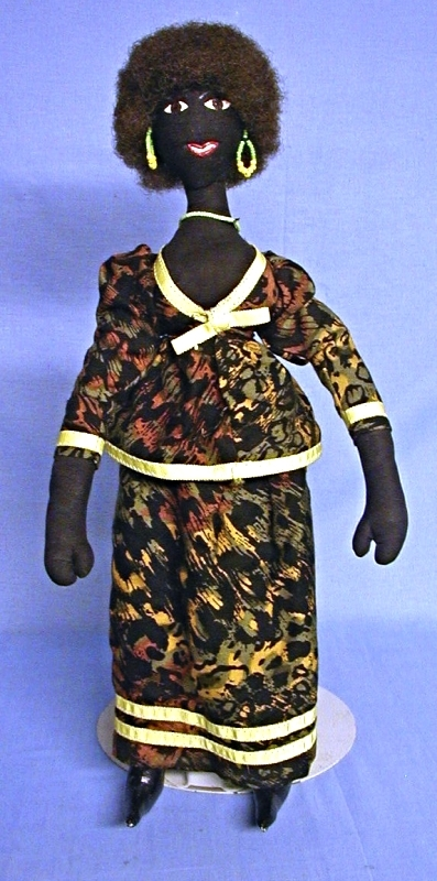 Black Folk Art Doll - Kathy Lamoix design