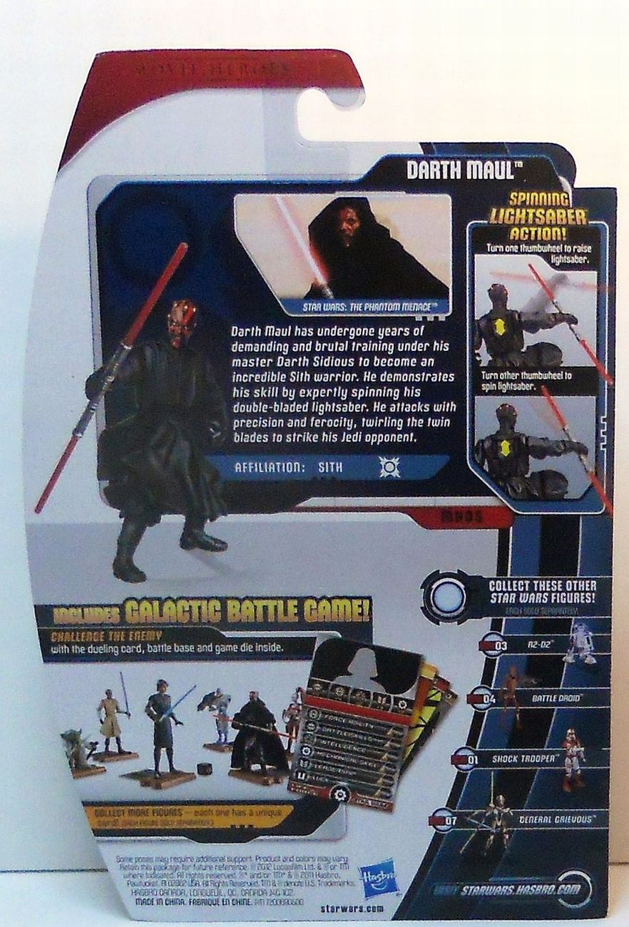 Image 2 of Star Wars Darth Maul Movie Heroes MH05 wave 1 3.75 in figure