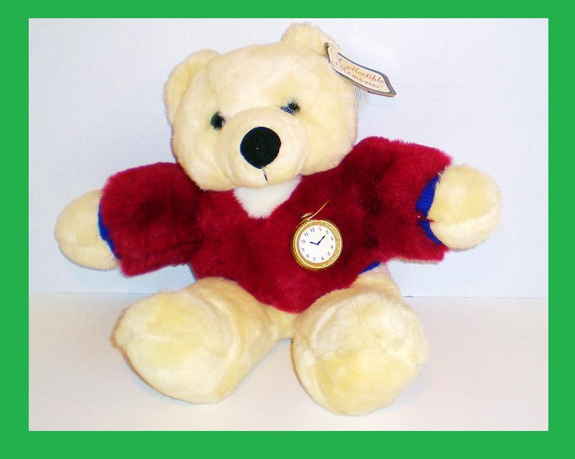 Collectible Memories by Dan Dee plush cream bear 2001 w/tag