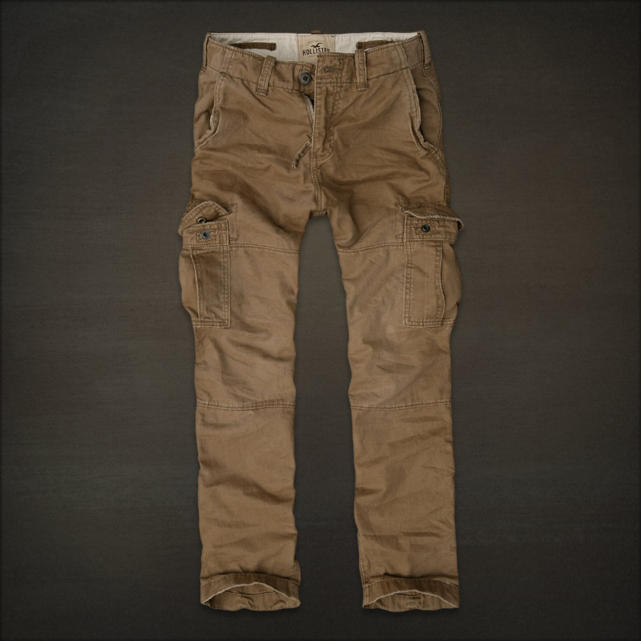 Mens Hollister Flat Front Khaki Chino Pants Size 30x32 % Cotton Button Front/10 ( reviews).
