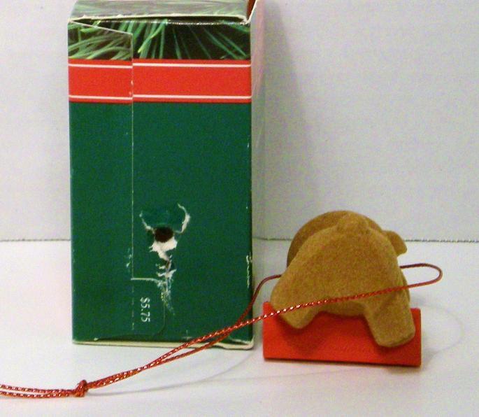 Image 2 of Notes of Cheer Hallmark Keepsake ornament fuzzy bear 1991