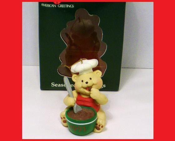 Image 0 of Seasoned Greetings American Greetings Chef Bear ornament