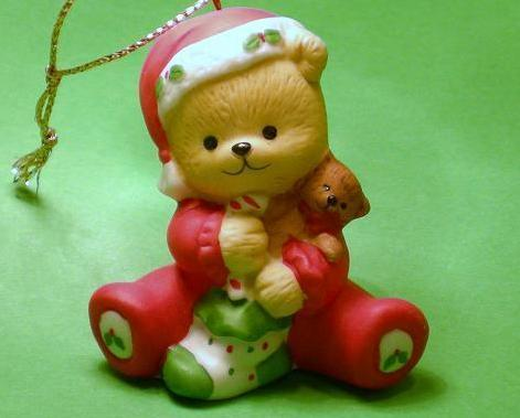 Bronson Bears of Christmas 25 Ornaments porcelain by Katharine Stevenson 1991