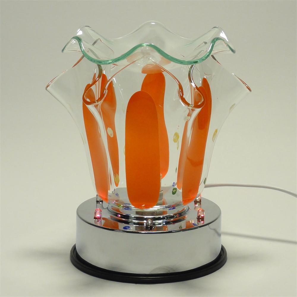 Orange Electric Touch Lamp Oil Or Tart Warmer Led Light