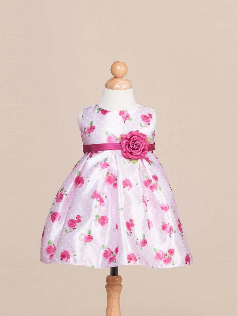 Image 1 of Sweet White Sleeveless Pink Floral Flower Girl Pageant Dress Crayon Kids USA 979