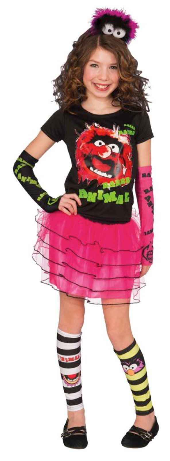 Image 0 of Too Cute Pink & Black Animal Muppet Costume Fashionista Set for Girls, One Size