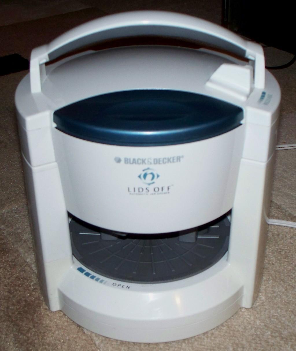 Black decker lids off automatic electric jar opener w