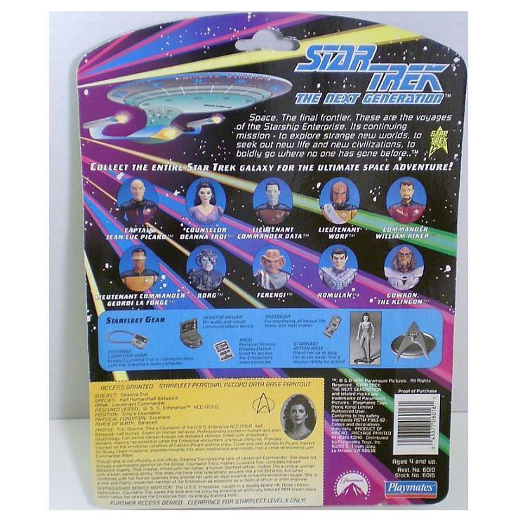 Image 1 of Star Trek TNG Lt Commander Deanna Troi 1992 action figure Series 1