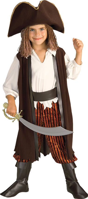 Image 0 of Adorable Rubies Caribbean Pirate Complete Costume, Yarn Hair, Toddler
