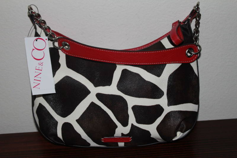 NINE & CO. by NINE WEST Giraffe Print Handbag Purse NEW