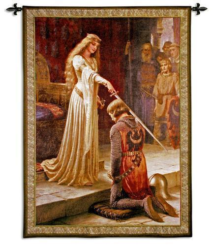 42x53 Accolade Knight Lady Woman Royal Castle Medieval