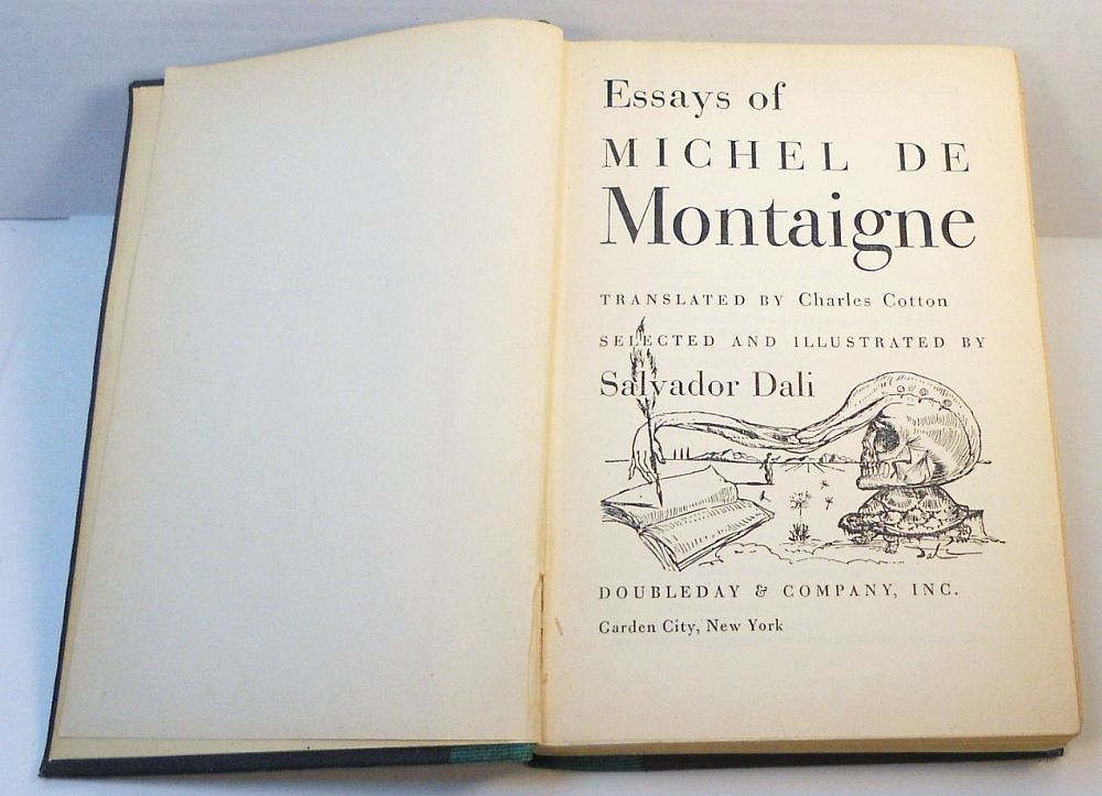 Essays Of Michel De Montaigne signed by Salvador Dali