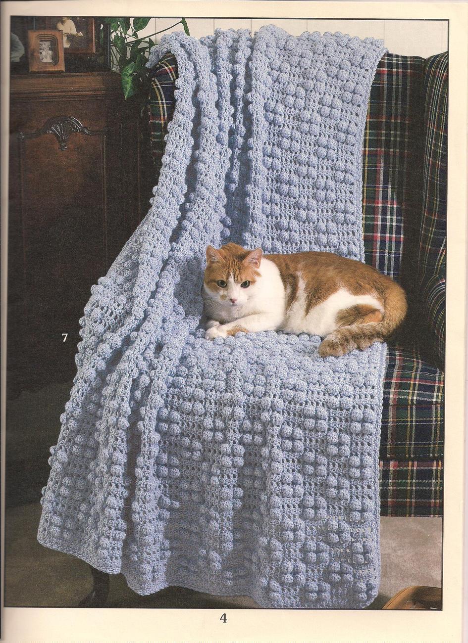 Crochet Cat Afghan Pattern : AFGHAN PURR-FECTION Cat kitten lovers afghan crochet ...
