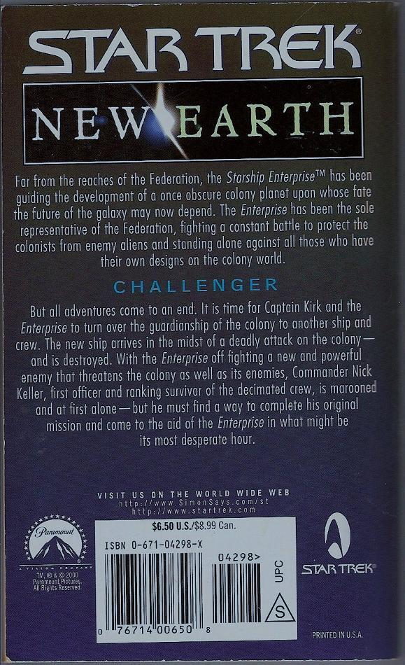 Image 1 of Challenger Star Trek New Earth Book 6 PB 2000