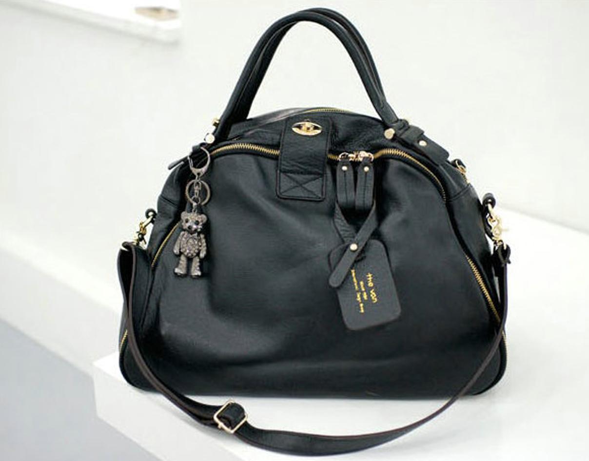Leather_bag_korean_tote_black