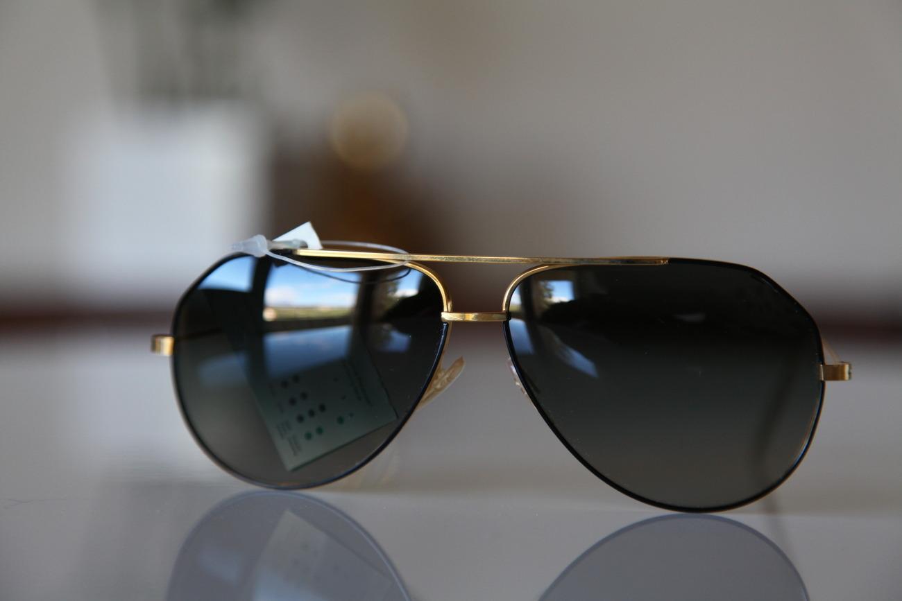 Polaroid Vintage Aviator Sunglasses Gold Frame / Black ...