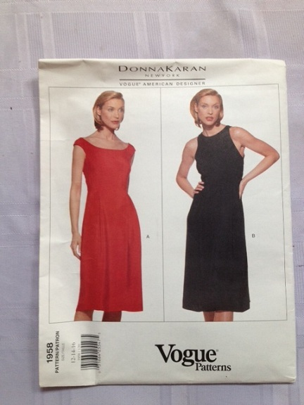 Vogue 1958 - dress pattern - Donna Karan - size 12, 14, 16