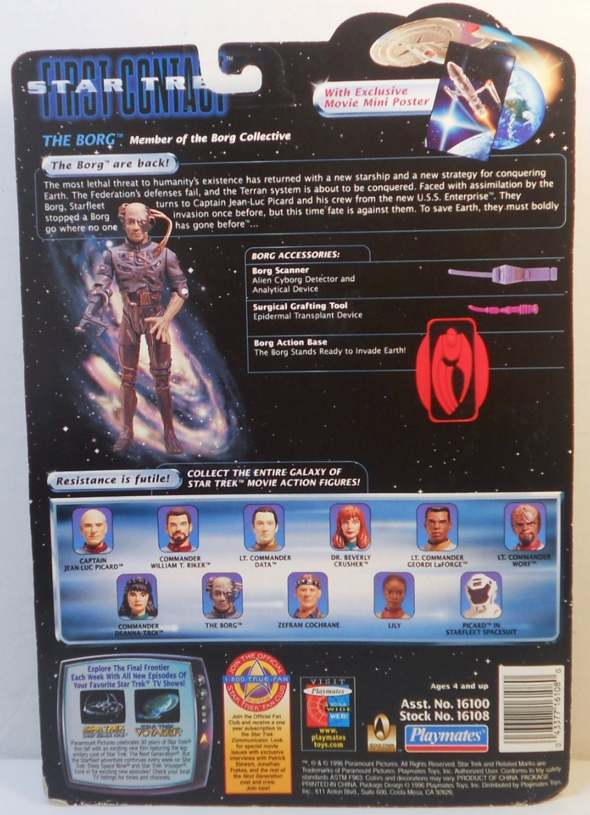 Image 1 of Star Trek The Next Generation First Contact Borg Action figure 1996