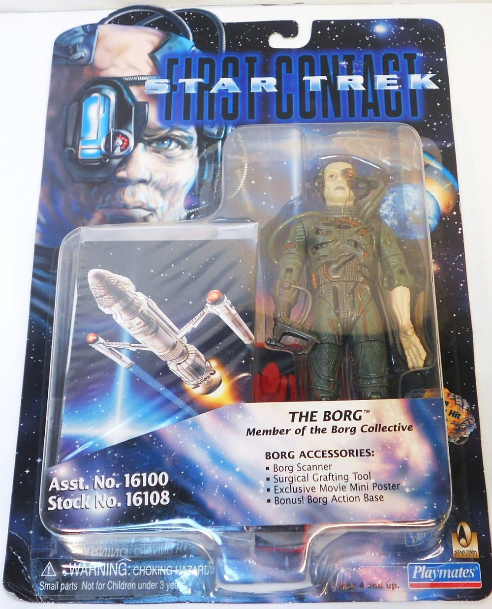 Image 2 of Star Trek The Next Generation First Contact Borg Action figure 1996