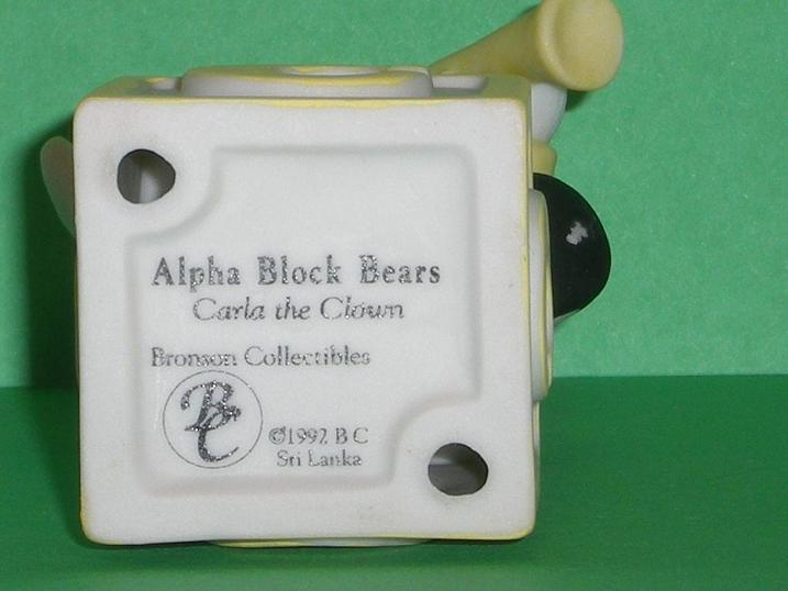 Image 4 of Alpha Block Bears Bronson Collectibles block C 1992