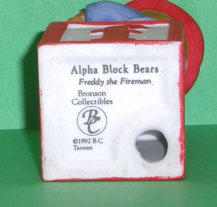 Image 4 of Alpha Block Bears Bronson Collectibles block F 1992