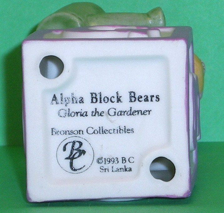 Image 4 of Alpha Block Bears Bronson Collectibles block G 1993