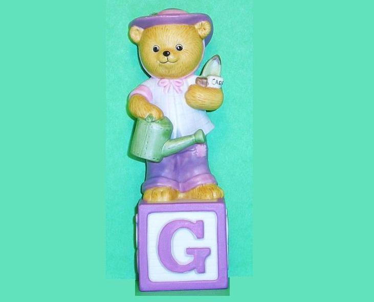 Alpha Block Bears Bronson Collectibles block G 1993