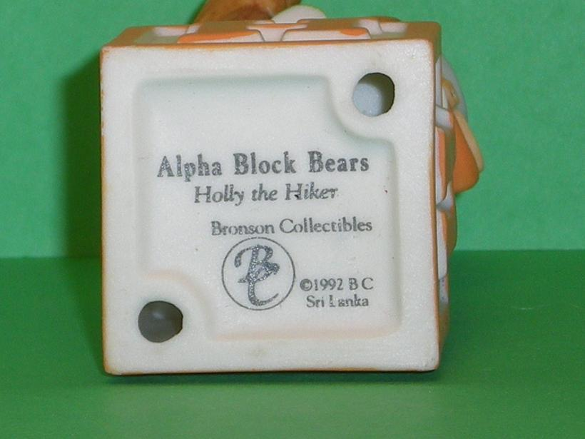 Image 4 of Alpha Block Bears Bronson Collectibles block H 1992