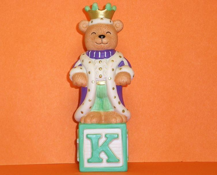 Image 0 of Alpha Block Bears Bronson Collectibles block K 1994