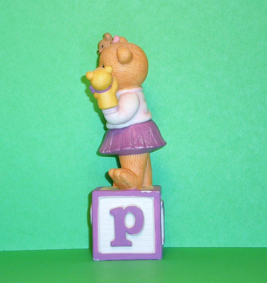 Image 1 of Alpha Block Bears Bronson Collectibles block P 1993