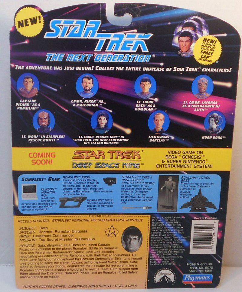 Image 1 of Star Trek The Next Generation Data as Romulan Unification episode 1994