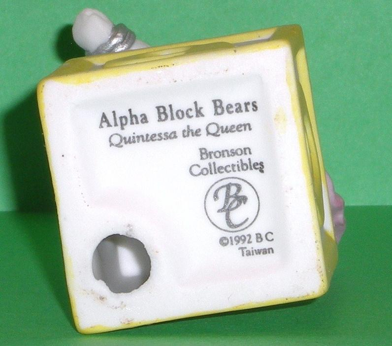 Image 4 of Alpha Block Bears Bronson Collectibles block Q 1992