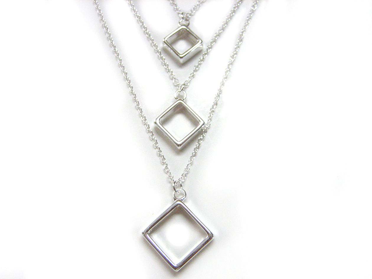 tiered square pendant necklace necklaces pendants