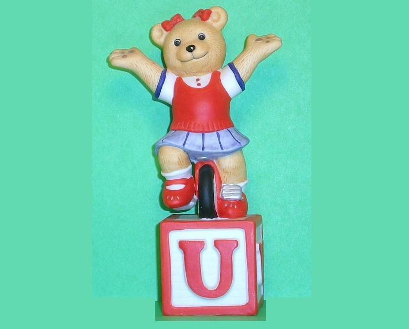 Alpha Block Bears Bronson Collectibles block U 1994