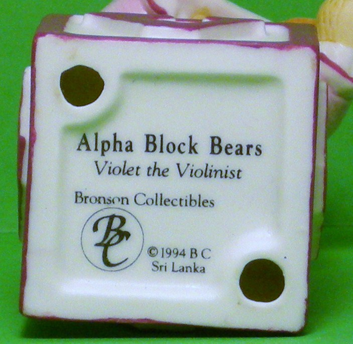 Image 5 of Alpha Block Bears Bronson Collectibles block V 1994