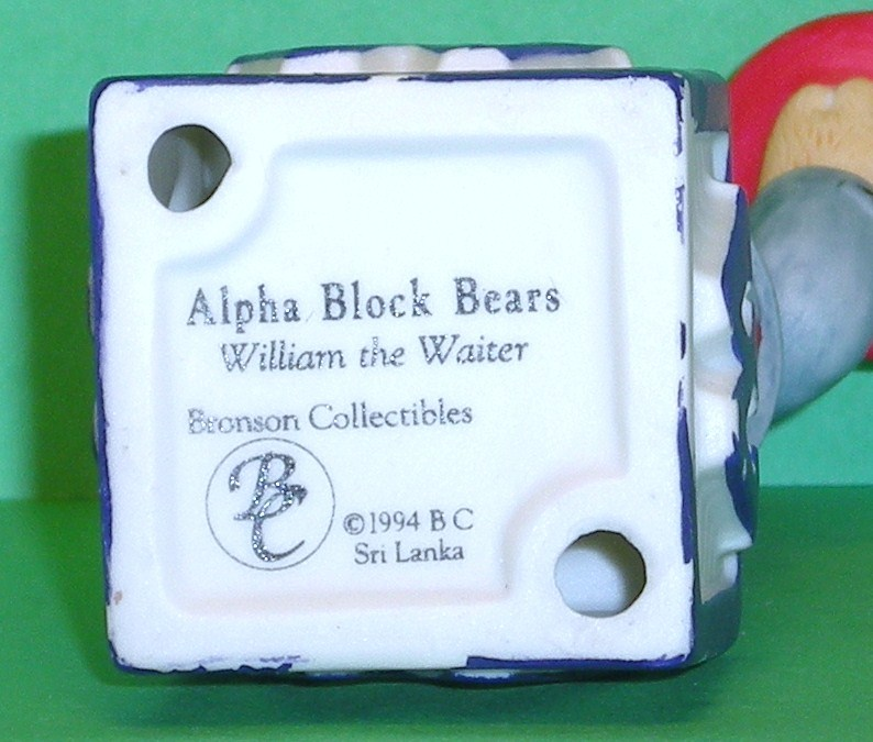 Image 4 of Alpha Block Bears Bronson Collectibles block W 1994