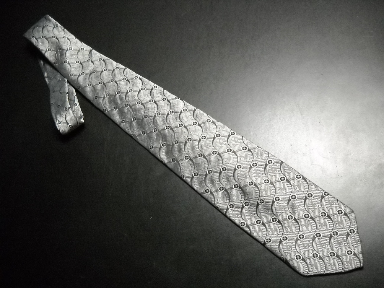 Givenchy Monsieur Neck Tie Silvers and Black Givenchy Monsieur
