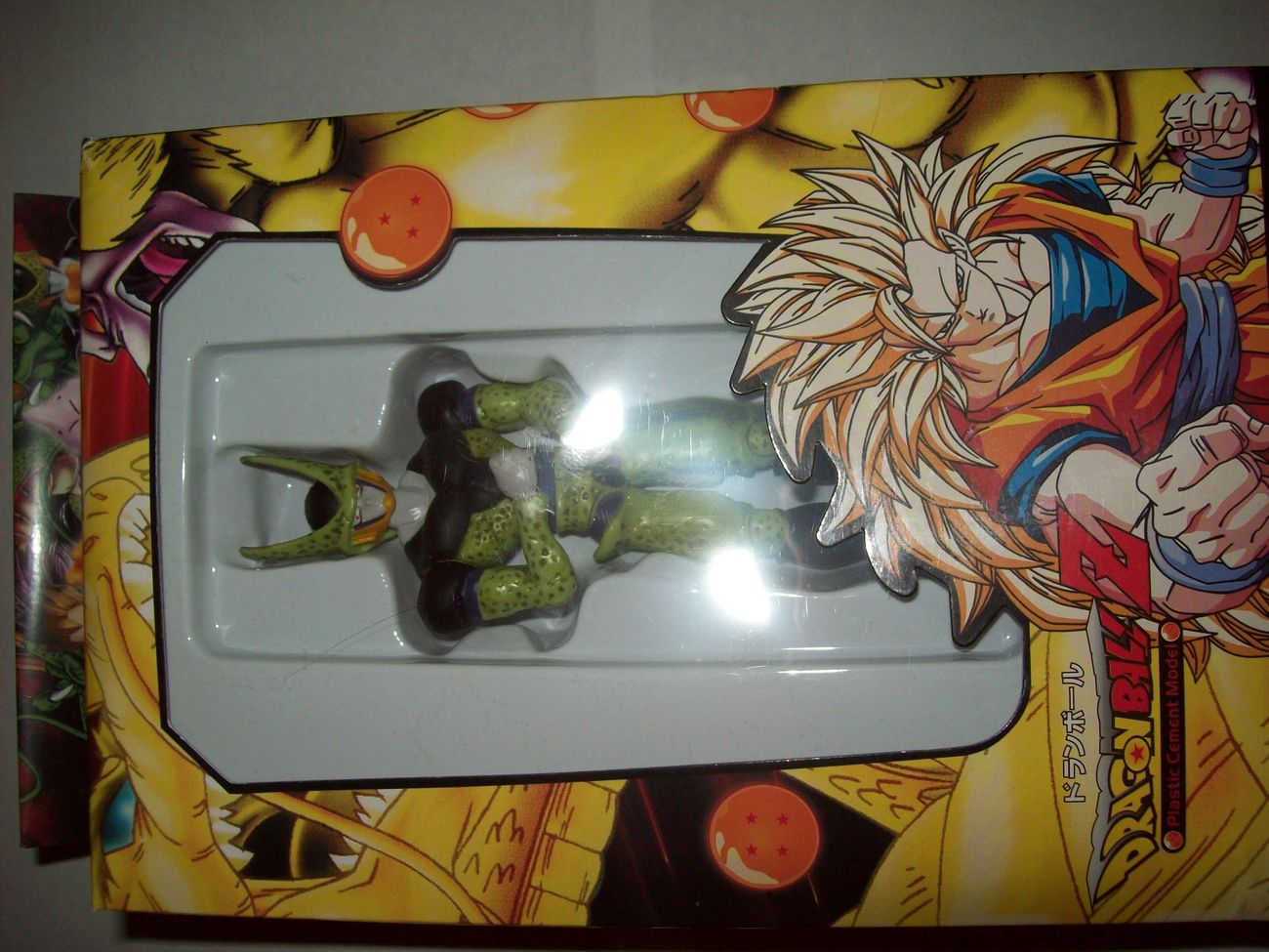 """cell perfect 5"""" dragonball z plastic cement model figure in box"""