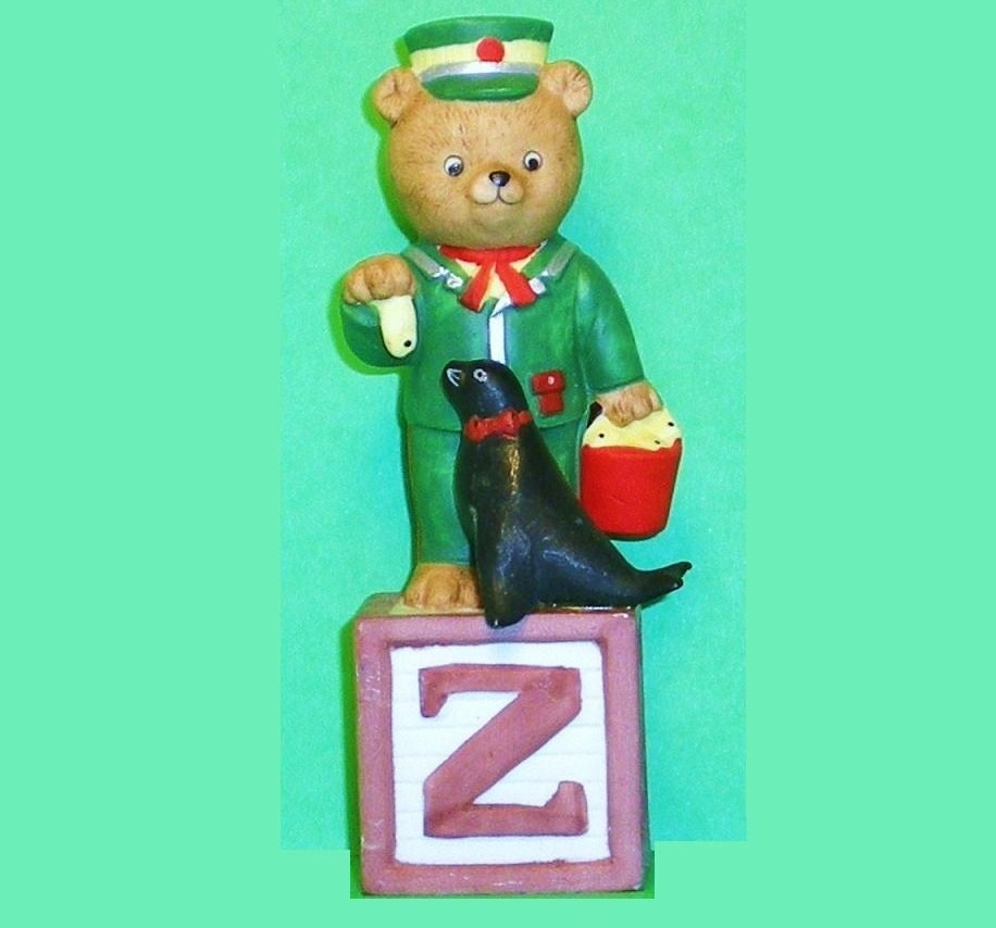 Alpha Block Bears Bronson Collectibles block Z 1992