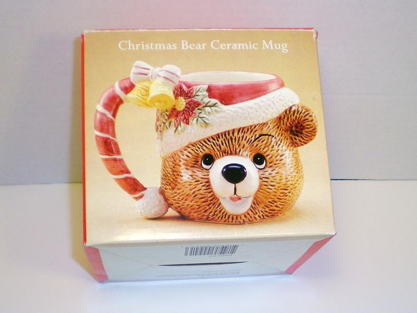 Image 4 of Christmas Bear Ceramic Mug decorative accent large capacity