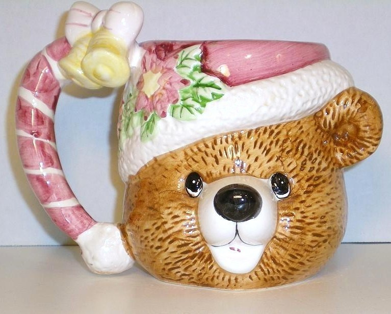 Christmas Bear Ceramic Mug decorative accent large capacity