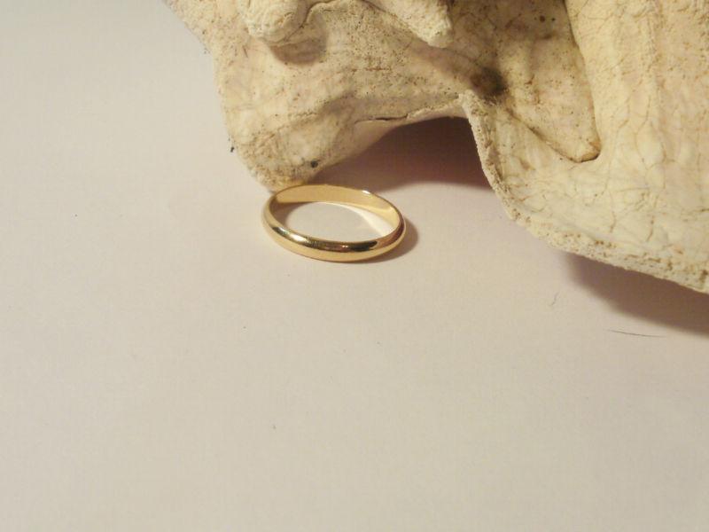 14K Yellow Gold Gep 3MM Wedding Band Ring Sizes 6-13 Bonanza