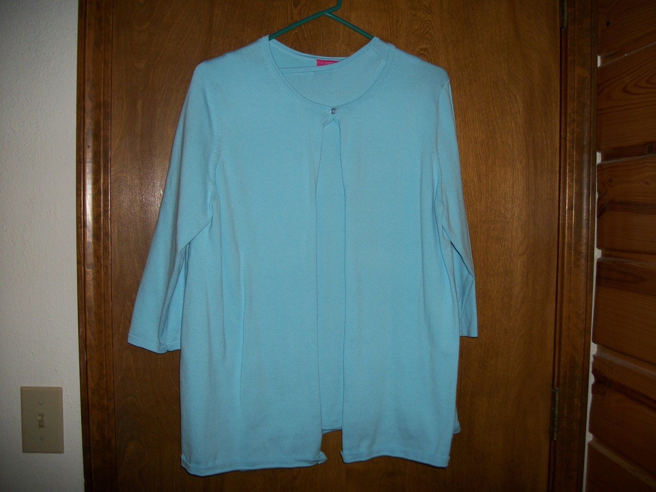 Liz Lange Maternity Light Blue Sweater Twin Set Sz Large Bonanza
