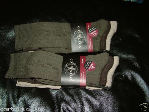 NWT 6 Pair  Covington Mens Soy Protein Fiber Socks Size 6-12 Bonanza