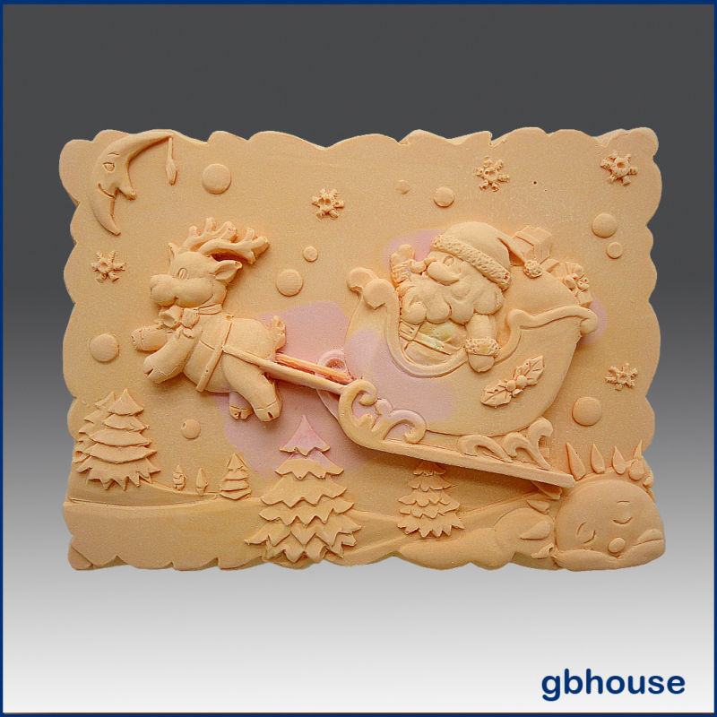 Soap and Candle Mold – Rudolph Rides Again Bonanza